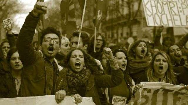 Huelga a la Española en Francia.