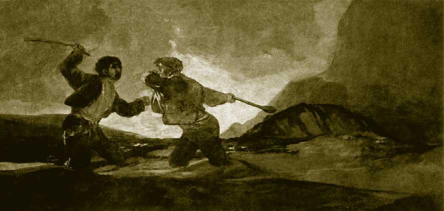 Cuadro de Goya Duelo a Garrotazos
