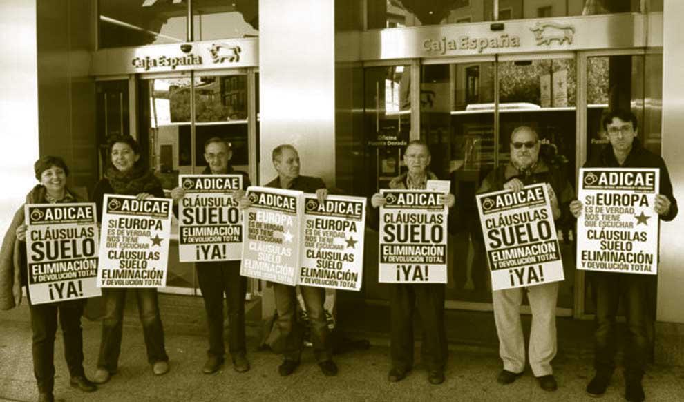 manifestación contra cláusulas suelo