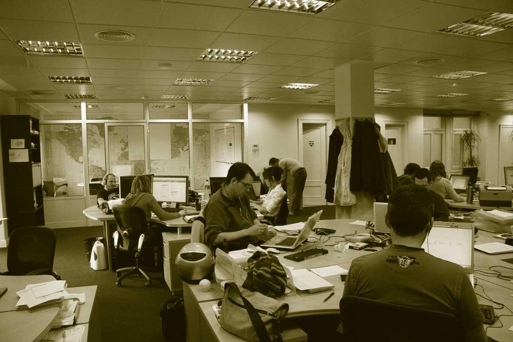 foto trabajando en oficina