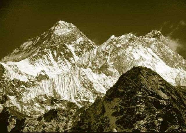 foto panorámica del Everest