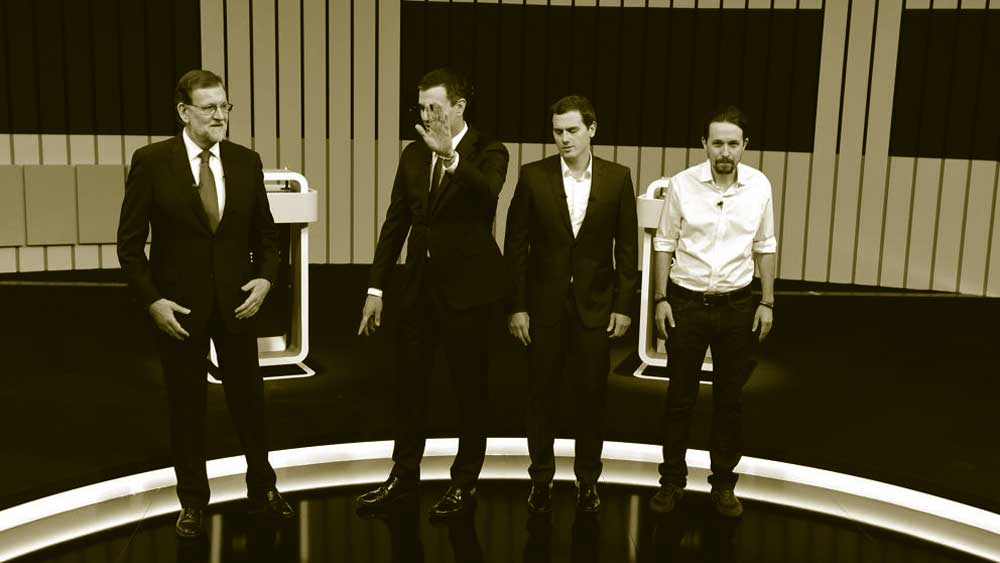 foto de los cuatro candidatos a la presidencia del gobierno