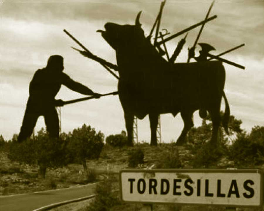 foto sobre el toro de la vega de Tordesillas