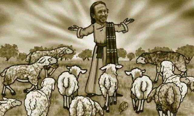 el joven pastor y las ovejas