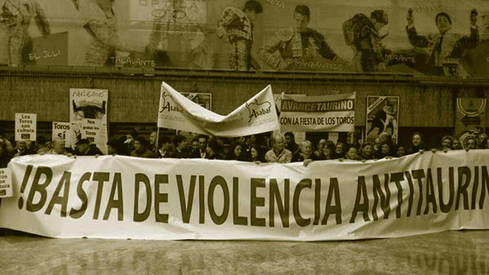 manifestación contra la violencia antitaurina
