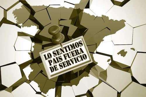 España rota y fuera de servicio