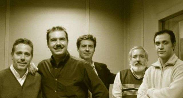 Las 4 C: Jesús Callejo, Juan Antonio Cebrián, Carlos Canales, (Juan Ignacio Cuesta) y Bruno Cardeñosa.