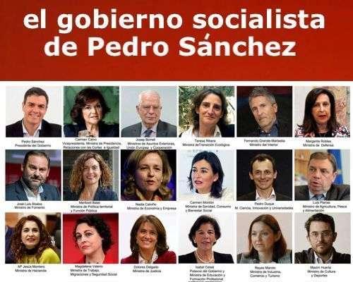Composición Consejo Ministro Pedro Sanchez